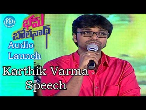 Video Director Karthik Varma Speech @Bham Bolenath Audio Launch |Navdeep | Naveen Chandra download in MP3, 3GP, MP4, WEBM, AVI, FLV January 2017