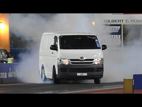 他們好奇地把400匹馬力的超跑引擎裝進休旅車裡,試跑時大家都為司機捏一把冷汗了!