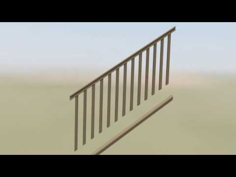 AZEK Rail: Composite U0026 Aluminum Baluster Infill Stair Installation Video    Deck Stairs Railing 00:05:55