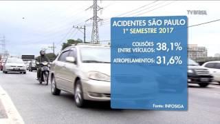 Mais da metade dos acidentes com vítimas fatais na capital acontecem entre a noite e a madrugada