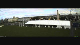Time Lapse Construction of Plymouth University Graduation Marquee 2012