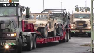 Американцы перебрасывают рекордное количество военной техники из Германии в Польшу