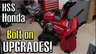 9. Front Housing Skid Shoes & Drift Breaker INSTALL | Honda HSS1332ATD Track Drive Snowblower