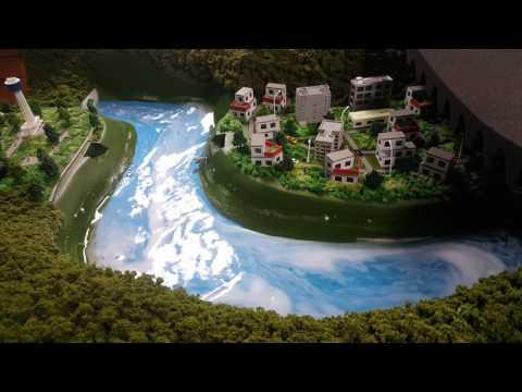 재난 연출 디오라마 홍수 전시모형2