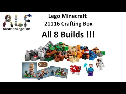 Lego Minecraft 21116 Crafting Box All 8 Builds Compilation