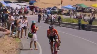BMC's Santos Tour Down Under race leader Richie Porte put in an early attack on the final climb of Willunga Hill and nobody was ...