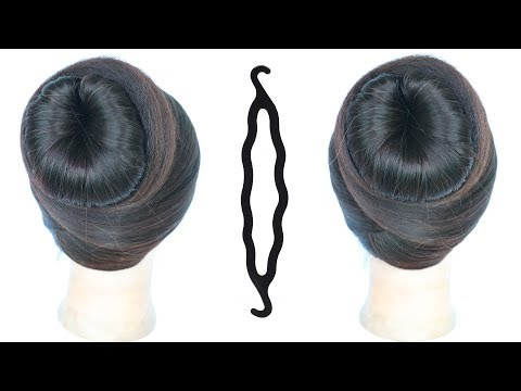 Easy hairstyles - very easy, simple & quick juda hairstyle using magic hairlock  cute hairstyles  hair style girl