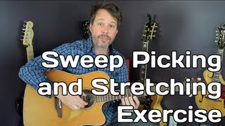 Sweep Picking and Guitar Stretching Exercise - Video 2 of 7
