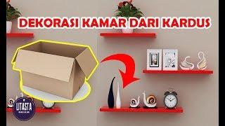 keren !! Ide kreatif Dekorasi kamar dengan kardus bekas  | DIY HOME DECOR