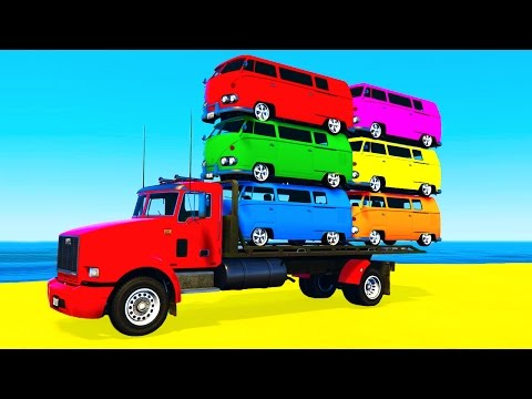 Video COLOR BUS on TRUCK and Cars Cartoon for Kids & Fun Colors for Children Nursery Rhymes download in MP3, 3GP, MP4, WEBM, AVI, FLV January 2017