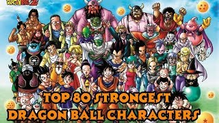 Video Top 80 Strongest Dragon Ball (Manga Only) Characters MP3, 3GP, MP4, WEBM, AVI, FLV April 2018