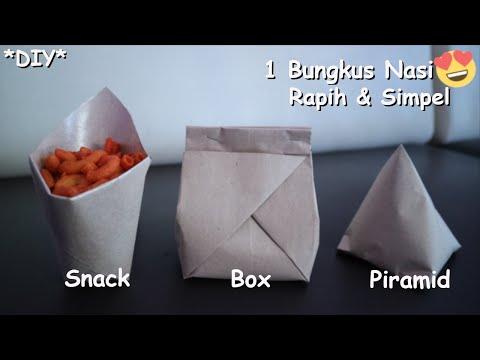 Inilah 3 Cara Buat Bungkus Nasi Jadi Kemasan *DIY*
