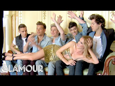 One Direction's Covershoot with Rosie Huntington-Whiteley (Behind The Scenes) | Glamour