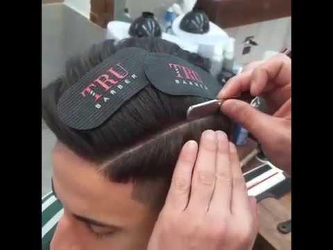 hair treatment by professional barber/side puff cutting/hair cutting/saloon