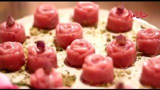 حلو السميدية بالورد - مطبخ منال العالم