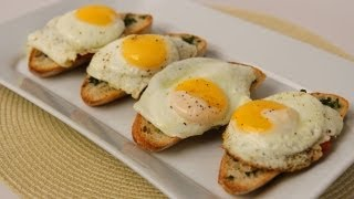 Homemade Breakfast Bruschetta Recipe - Laura Vitale - Laura In The Kitchen Episode 427