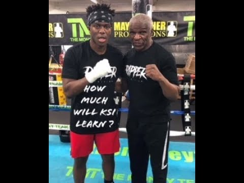 KSI SPARRING AND TRAINING WITH FLOYD MAYWEATHER REACTION (видео)