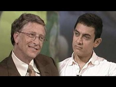 India - Billionaire philanthropist Bill Gates and Bollywood actor Aamir Khan talk to NDTV's Prannoy Roy about taking up social causes and the impact they've made by ...