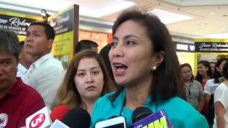 Leni 'supportive' of campaign vs drugs, values rule of law
