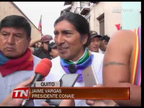 Indígenas marcharon por calles del centro de Quito de forma pacífica