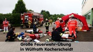 Mettmann Germany  city photo : Großübung der Feuerwehrkräfte des Kreises Mettmann in Wülfrath