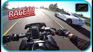 10. NISSAN GTR vs YAMAHA FZ10!! | Insane POWER!!
