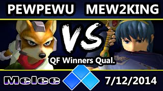 Fantastic set between PewPewU and Mew2King without commentary. Great for practicing watching intently and trying to catch things the commentators would say (or for practicing your own commentary).