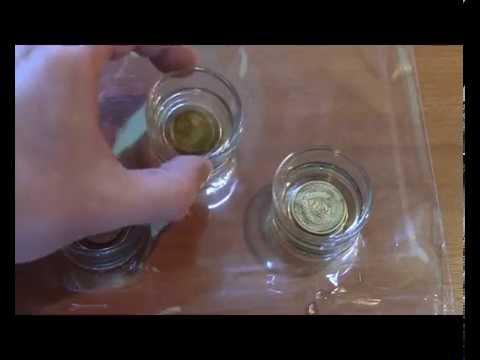Чистка советских монет ортофосфорной кислотой