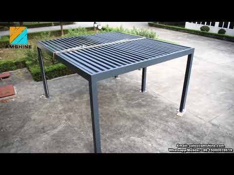 Aluminium Rain Protection Motorized Pergola/Gazebo
