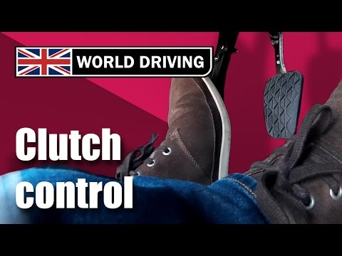 Clutch control driving lesson - learning to drive. Clutch control in traffic & on a hill.