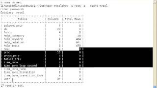 48 Mysql Database MySQLShow