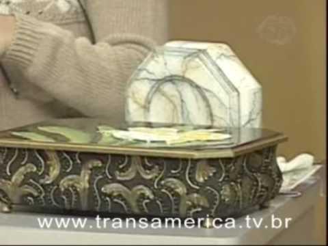 Tv Transamérica - Artesanato Técnica vitrificação