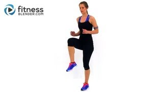 Fat Burning Cardio Workout - 37 Minute Fitness Blender Cardio Workout at Home - YouTube