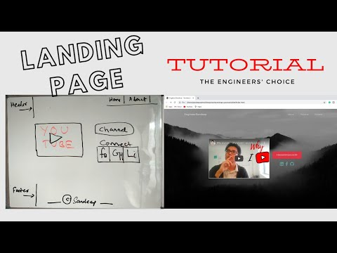 Landing Page Tutorial. Build a beautiful landing page from free templates - Engineer's trick Ep 2