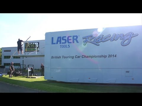 Toolconnection at Speed | Building the Laser Tools Racing Hospitality Unit