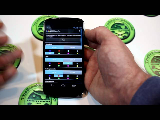 LEDBlinker Android App Review - With On Screen LED Support
