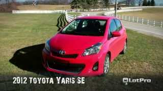 2012 Toyota Yaris SE Review