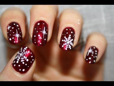 nail art in stile natalizio - tutorial