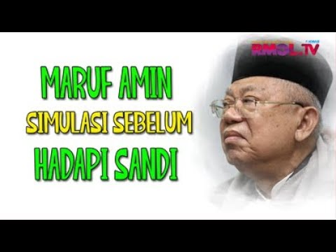 Maruf Amin Simulasi Sebelum Hadapi Sandi