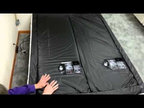 99% csillapítású félbeosztott vízágy matrac