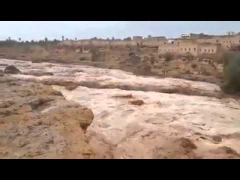 حصريا : واد أكجكال إقليم طاطا الهائج صباح يوم الأحد 21/09/2014