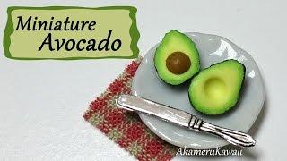 Easy Miniature Avocado - Polymer Clay Tutorial