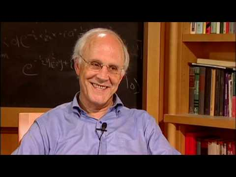 nobel laureate - David Gross, the 2004 Nobel Laureate in Physics and the director of the Kavli Institute for Theoretical Physics at UC Santa Barbara, talks with veteran journ...