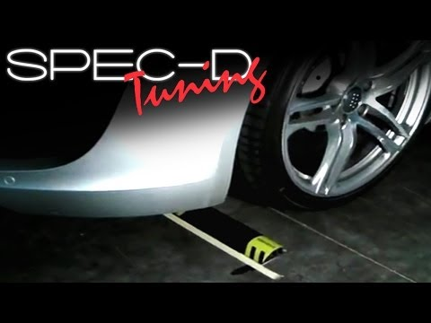 SPECDTUNING INSTALLATION VIDEO: EASY PARK GARAGE PARKING ASSIST WHEEL STOPPER