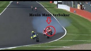 Video AKSI GILA Marc Marquez yang bikin Mesinnya Jebol !!! MotoGP Silverstone Inggris 2017 MP3, 3GP, MP4, WEBM, AVI, FLV November 2017