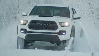 Vehicle: 2017 Toyota Tacoma TRD Pro playing in the snowhttp://www.roadfly.com/toyota-tacoma-trd-pro-and-4runner-trd-pro-walk-around-videos.htmlRoadfly.com - http://www.roadfly.comRoadflyTV.com - http://www.roadflytv.comCar Forum - http://www.roadfly.com/forumsRoadflyTV - http://www.youtube.com/roadflytvFacebook - http://www.facebook.com/roadflyTwitter - http://twitter.com/roadflyIMDB - http://www.imdb.com/title/tt1790415/Google+ - https://plus.google.com/117787360033180487526
