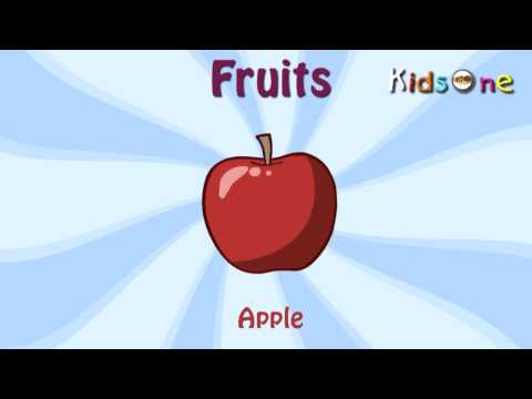 Learn to Types of Fruits  Animated Videos for Kids