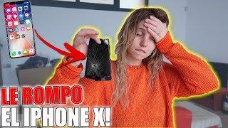 BROMA A MI NOVIA QUE LE ROMPO EL IPHONE X! LO TIRO POR LA VENTANA! **SE ENFADA MUCHO**