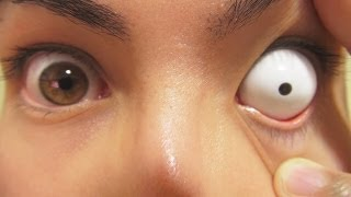 Video How to: Insert And Remove White Sclera Contact Lenses (Fxeyes) MP3, 3GP, MP4, WEBM, AVI, FLV Juni 2018