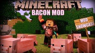 Minecraft: Bacon Mod (Magical Bacon, Bacon Sword, Bacon Trees and More!) Mod Showcase